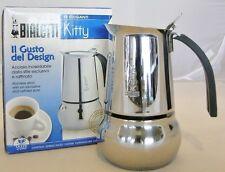 Bialetti Espressokocher -1718- Espressokanne,Mokkakanne Kitty 2 Ta, Edelstahl