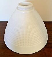 8 x 5 3/4 Torchiere Milk Glass Lamp Diffuser Shade Stiffel Rembrandt Lamps