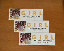 "PHARRELL WILLIAMS -  ""Girl"" STICKERS - 3 COUNT -  Rectangular Stickers"
