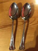 2 x  Vintage Ashberry Mirror Finish Table Spoons 21cm