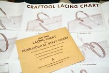 Leather Craft  LACING CHART /  FUNDAMENTAL LEATHER CARVING Vintage Patterns NEW