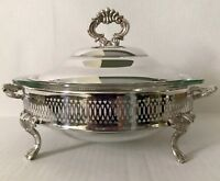 KENT Silverplated Round Serving Dish w/Lid