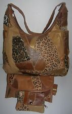 New Leather patchwork shoulder bag purse organizer Handbag Gold coast