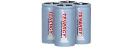 Tenergy 4PCS C Size 5000mAh High Capacity 1.2V NiMH Rechargeable Batteries Cells