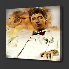 SCARFACE TONY MONTANA ICONIC FILM GRUNGE STYLE WALL ART PICTURE CANVAS PRINT