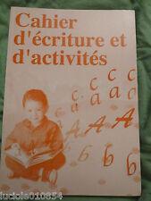 CAHIER D'ECRITURE ET D'ACTIVITE Lapin Malin  J'apprends a lire