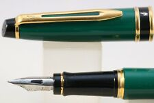 Vintage Waterman Expert MKI Fine Fountain Pen, Green with Gold Trim