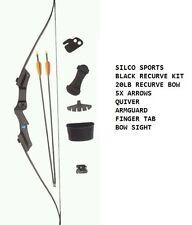 Armex guerrier recurve jeunesse bow / longbow Kit-Noir-comprend 5 Flèches