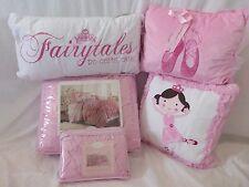 5 pc Luxury Bella Twin Quilt, Sham & Decorative Pillows Set NIP