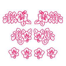 * Kit Stickers Décoratifs -- Modèle Hibiscus -- 2 tailles au Choix *