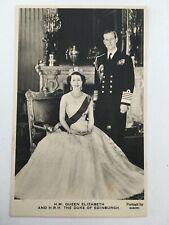 Fine Portrait of Queen Elizabeth & Duke of Edinburgh by BARON Valentine PC