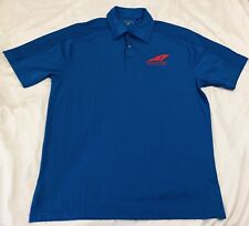 DeltaWing Racing Cars Embroidered Logo Blue Polo Golf M Shirt Racing Panoz Euc