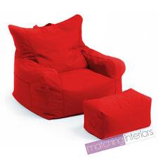 Rouge Budget Pouf poire chaise + ECHELLE Tabouret Gamer Jeu fauteuil jardin Pouf