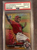 2017 Bowman Chrome Victor Robles Gold Shimmer Refractor PSA 10💎#47/50 LOW POP
