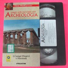 VHS film I CAMPI FLEGREI E PAESTUM Omar Sharif viaggio archeologia (F107)no dvd