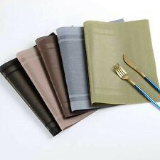 6 PCS Set Non Slip Table Mats PVC Heat Resistant Washable Dining Table Placemats