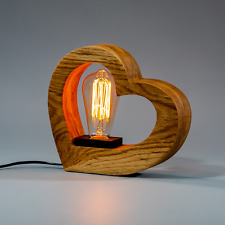 Wooden Table Night Lamp Edison/Home Decor/Bedside,Bedroom, Nursery Lamp for Kids
