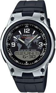 Casio 40mm Men Analogue/Digital Quartz Watch with Resin Strap - Black...