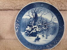 "Beautiful 1967 ""The Royal Oak"" Royal Copenhagen Christmas Plate Excellent"