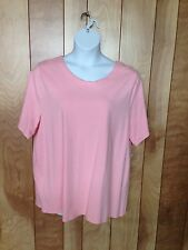 WOMEN'S LIZ & ME SHORT SLEEVE KNIT TOP-SIZE: 1X (18/20)