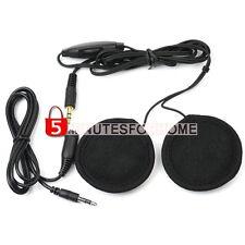 Paio Auricolari Headset Interno Casco Moto 3,5mm per MP3/4 Radio iPod