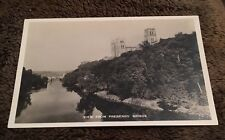 Vintage Postcard Unposted B&W Real Photo View From Prebends' Bridge England