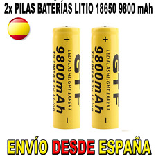 2x PILA 18650 BATERIA RECARGABLE 9800mAh 9800 ION LITIO LI-ION 3,7V POWERBANK ES