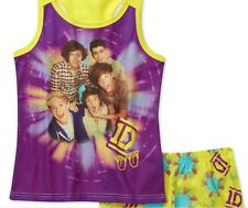 NWT SZ 6X ONE DIRECTION PAJAMA SET TOP SHORTS YELLOW/PURPLE 1D NIALL,HARRY ETC