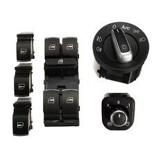 6pcs Chrome Window Headlight Mirror Switch Kit For VW Passat B6 CC Golf Jetta