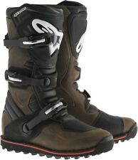 Alpinestars Tech-T Motorcycle Boots / Brown - Size 12