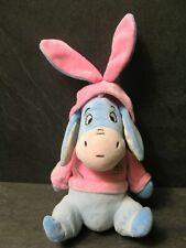 peluche doudou bourriquet lapin bleu rose pois winnie 23 cm disney