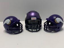3 Minnesota Vikings Mini Riddell Helmet NFL Football Gumball Pocket Size 1 Speed