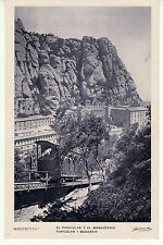 TARJETA POSTAL MONTSERRAT. BARCELONA. Funicular y Monasterio. TC00650