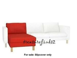 IKEA Red COVER for KARLSTAD Add-On Chaise Korndal Red Lounge Slipcover Open box