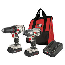 PORTER CABLE PCCK604L2 20V Max 20 Volt Lithium Ion 2 Tool Cordless Combo Kit NEW