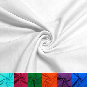 """Cotton Jersey Lycra Spandex Knit Stretch Fabric 58/60"""" wide $2.99/yard All color"""