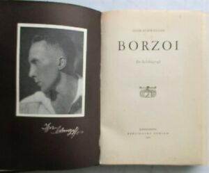 'Borzoi' by Igor Schwezoff 1936 Copenhagen, Denmark Edition, Leather-Bound
