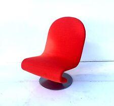 Mid Century Modern Verner  Panton 123 Chair  70s Pop
