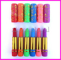 MAGIC MOROCCAN LIPSTICK x 6 COLOURS CHANGE COLOUR TO PINK PINTALABIOS