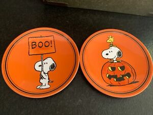 Pottery Barn Kids Halloween Peanuts Melamine Plates Set Of Two