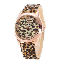 Fashion Unisex Geneva Leopard Silicone Jelly Gel Quartz Wrist Watch Latest 2017