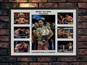 MANNY PACQUIAO SIGNED BOXING LIMITED EDITION  AUTOGRAPH PRINT MEMORABILIA