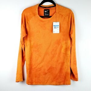 Nike Tech Pack Reflective Long-Sleeve Running Shirt BV5681-847 Orange Mens Sz M