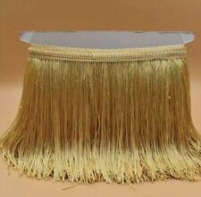 Light Golden 15cm Braid Trim Tassel Fringe DIY Craft Clothing Price per 30cm