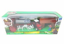 Country Life Childrens Farming Tractor Trailor & Milking Station + Cows New