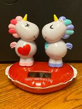 Solar Powered Dancing  Bobblehead Toy - Valentine's Day 2021 - Kissing Unicorns