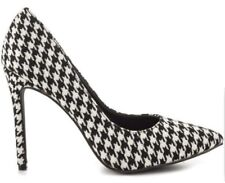 Penny Loves Kenny Houndstooth Black & White Pointy Toe high Heel pumps Size 6M
