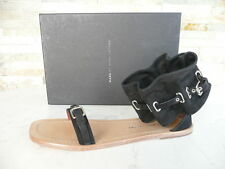 MARC by JACOBS Gr 38 Sandales Chaussures Lanière à la cheville noir neuf
