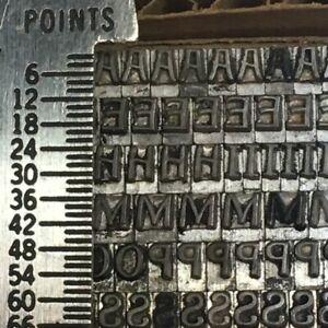 Pen Print 12 pt - Letterpress Type - Printer's Metal Lead Printing Sorts Rare