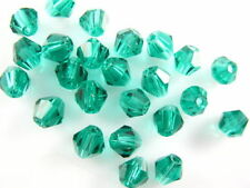 Bulk 50pcs Peacock Green Glass Crystal Faceted Bicone Beads 8mm Spacer Findings